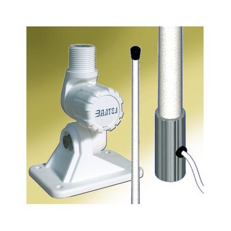Antenne VHF vedette fouet fibre 2,40m rotule plastique