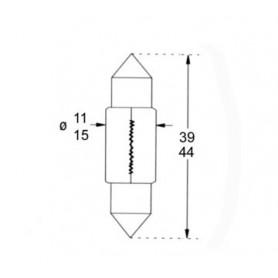 AQUA SIGNAL 24V 10W 25/10X44