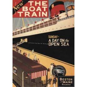 """Affiche """"The Boat Train"""" 1925 - Toile imprimée paquebot"""