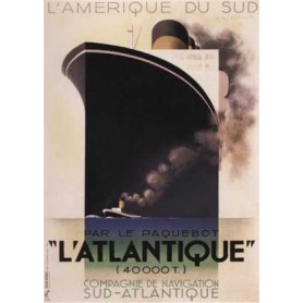 """Affiche publicitaire du paquebot : """"L Atlantique"""""""