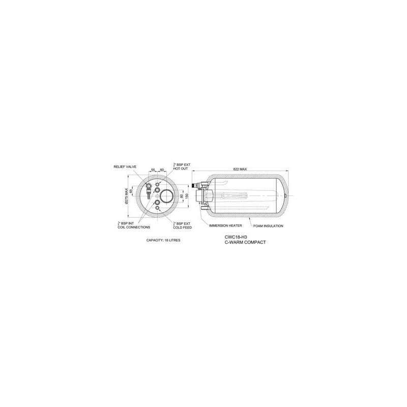 CH. EAU COMPACT 18L HORZ + SUP