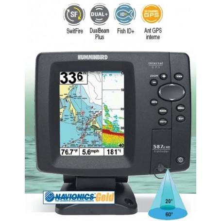 GPS Sondeur Humminbird 587ci HD - Couleur