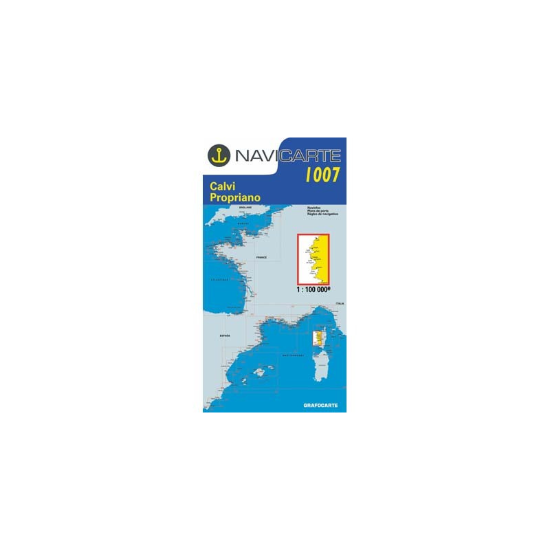 Carte Marine 1007 Navicarte : Corse Est Ouest Centre