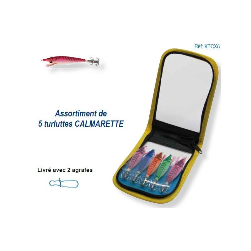 Kit de 5 turluttes Calmarettes Flottantes