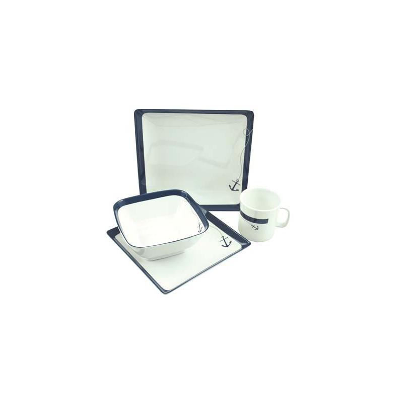 kit vaisselle ancre marine vaisselle pour bateaux en m lamine confort bord. Black Bedroom Furniture Sets. Home Design Ideas