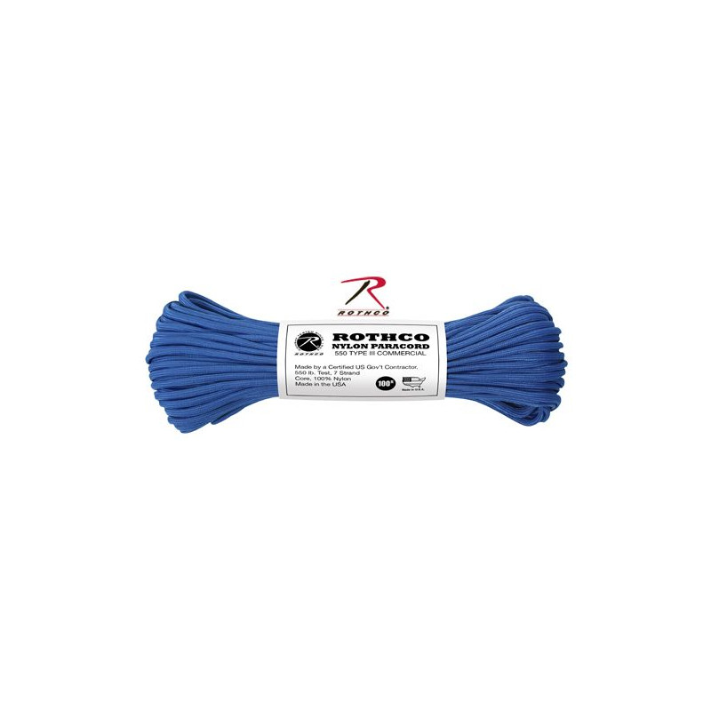 Paracord 550 Nylon Bleu