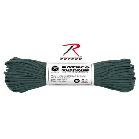 Paracord 550 Nylon Vert chasse