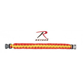 Bracelet de Survie en Paracord 550 Rouge et Jaune
