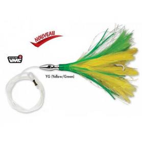 Flash feather Williamson monté sur bas de ligne
