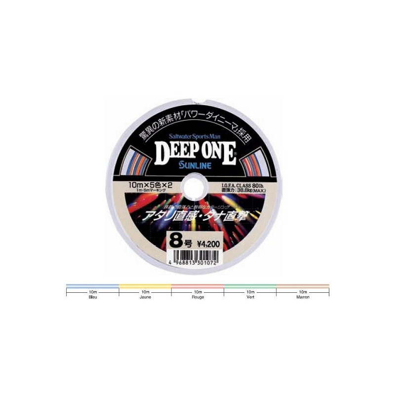 Tresse Sunline Deep One Multicolore Spécial Jigging