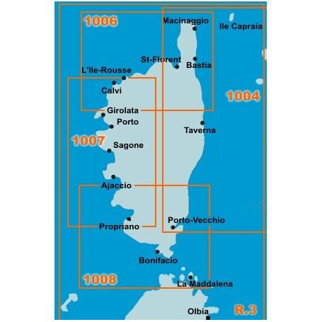 Navicarte 1007 Corse Est Ouest Centre Ajaccio Porto Solenzara Carte Marine Navicarte